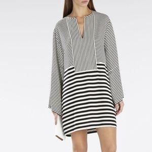 BCBGMaxAzria Amilia Stripe Kimono-Sleeve Dress M
